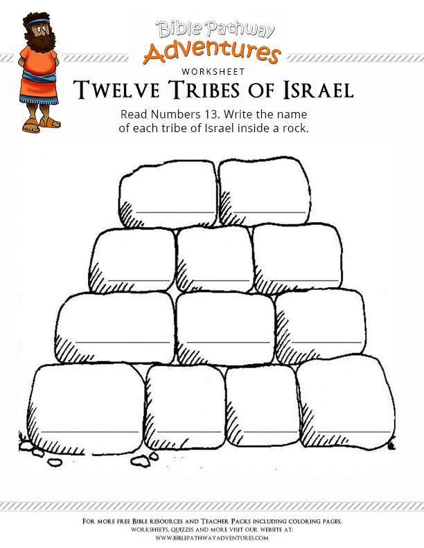 Bible Worksheet: Twelve Tribes of Israel #hebrewforkids | Learn