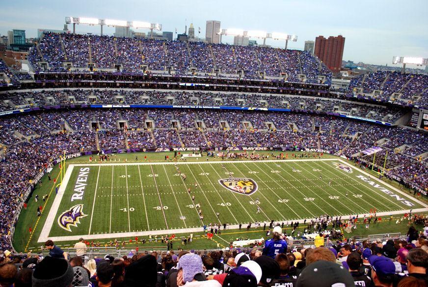 Baltimore Ravens Football Game At Mt Bank Stadium In