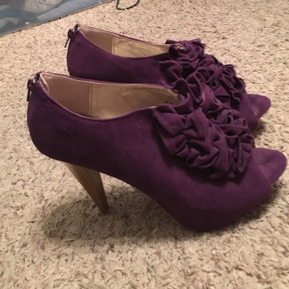 Charlotte Russe purple heels! Super cute and comfy! Worn once! Charlotte Russe Shoes Heels