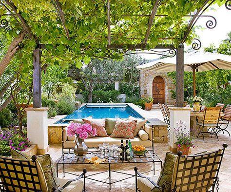 Beautiful Backyard Inspiration Patio trasero, Relajante y Patios