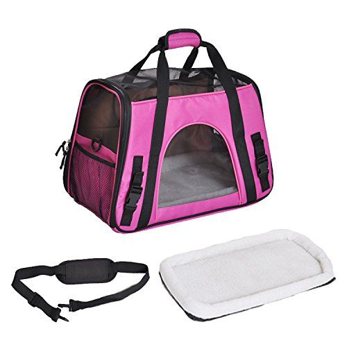 Treat Me Airline Approved Pet Carriers For Cat Premium Oxford Small Dog Carrierspuppy Handbagtote Shoulder Bag With Fleece Dog Carrier Bag Pet Bag Dog Tote Bag
