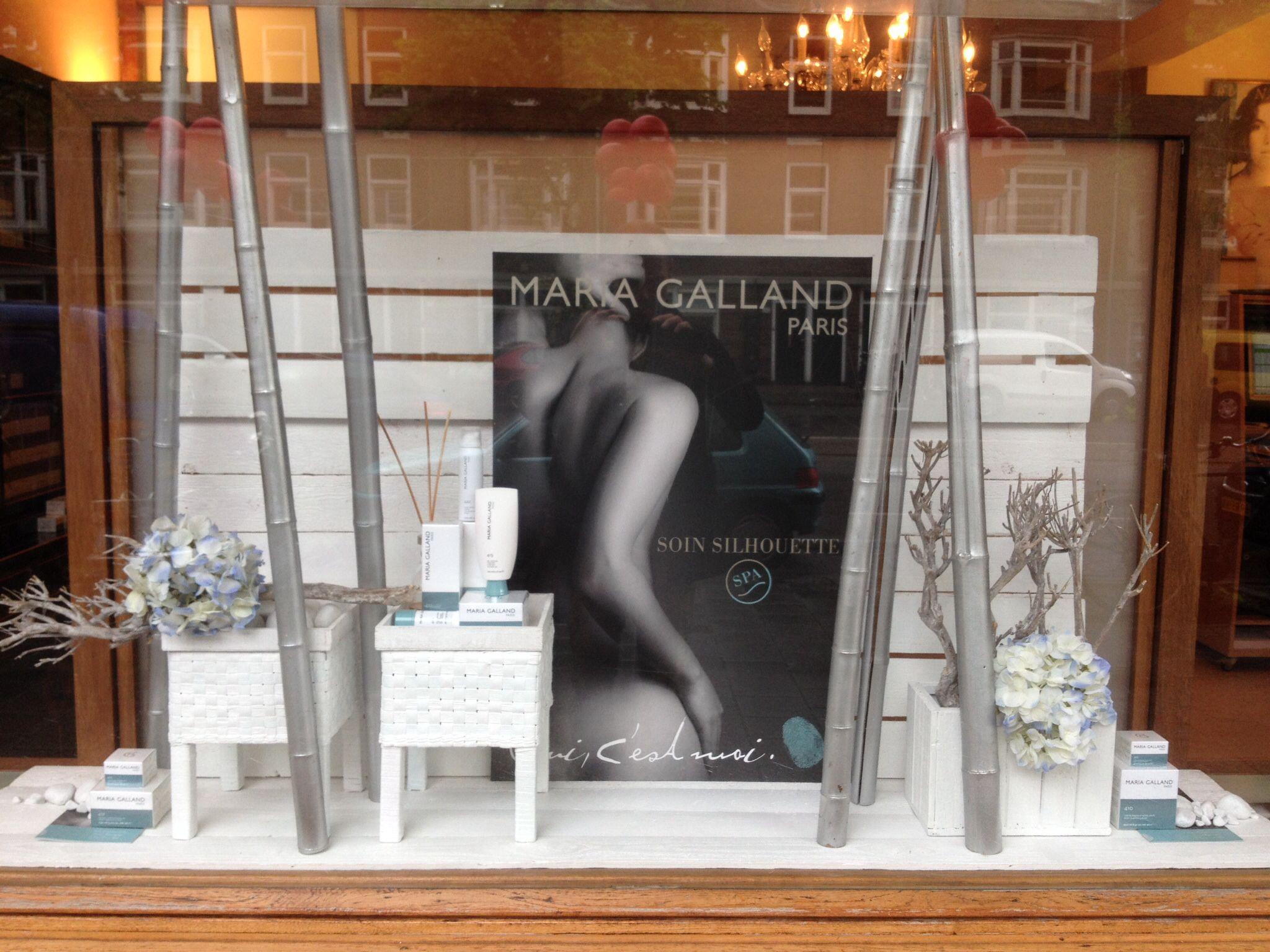 Maria Galland Window Display At An Beautysalon In Amsterdam Spa