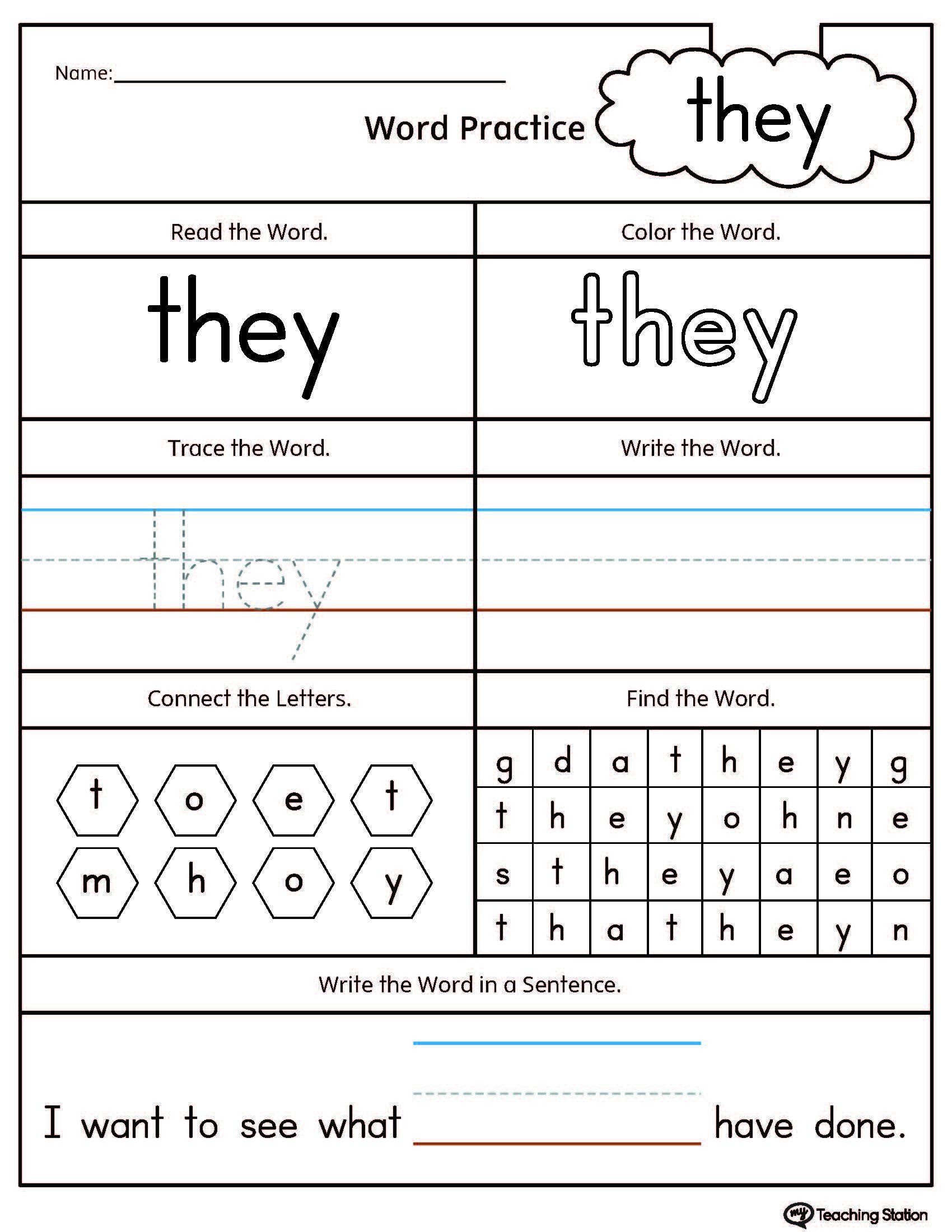 Word Worksheets For Kindergarten Editable Sight Word Worksheets Teaching Cvc In 2020 Sight Word Worksheets Kindergarten Worksheets Sight Words Sight Words Kindergarten [ 2200 x 1700 Pixel ]