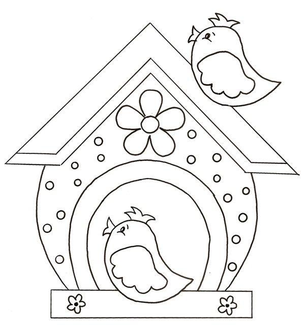 Oiseaux et nichoir printemps oiseau coloriage coloriage et mangeoire oiseau - Dessiner un oiseau en maternelle ...
