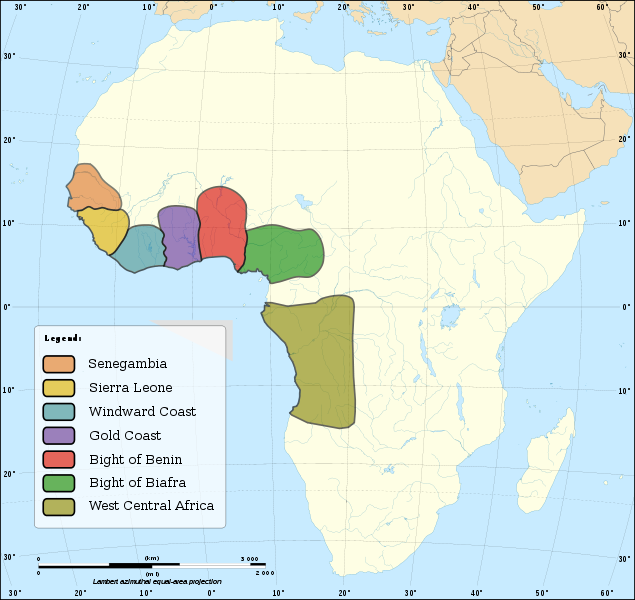 Major Slave Trading Regions Of Africa Thth Centuries Slave - Us history maps slavery quiz answers