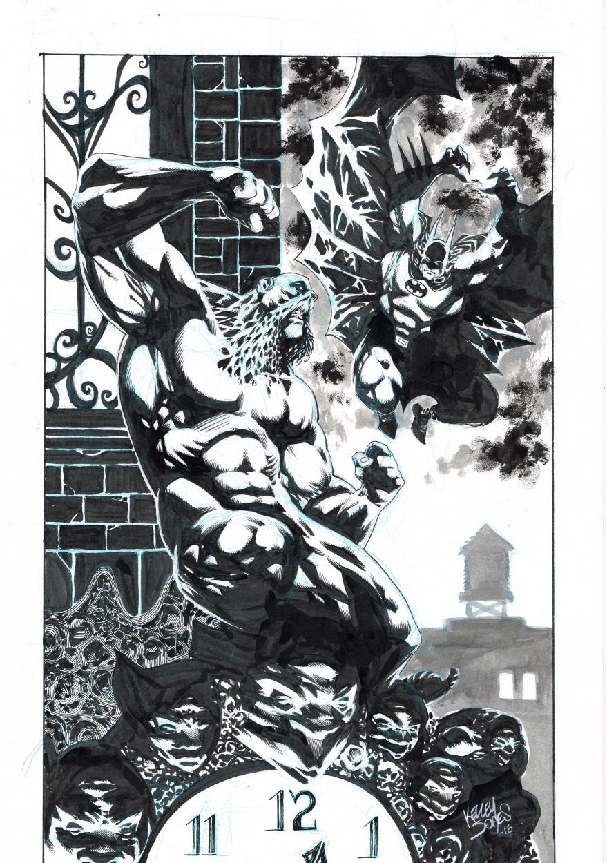 Batman -vs- Swamp Thing - Kelley Jones Comic Art #swampthing Batman -vs- Swamp Thing - Kelley Jones Comic Art #swampthing