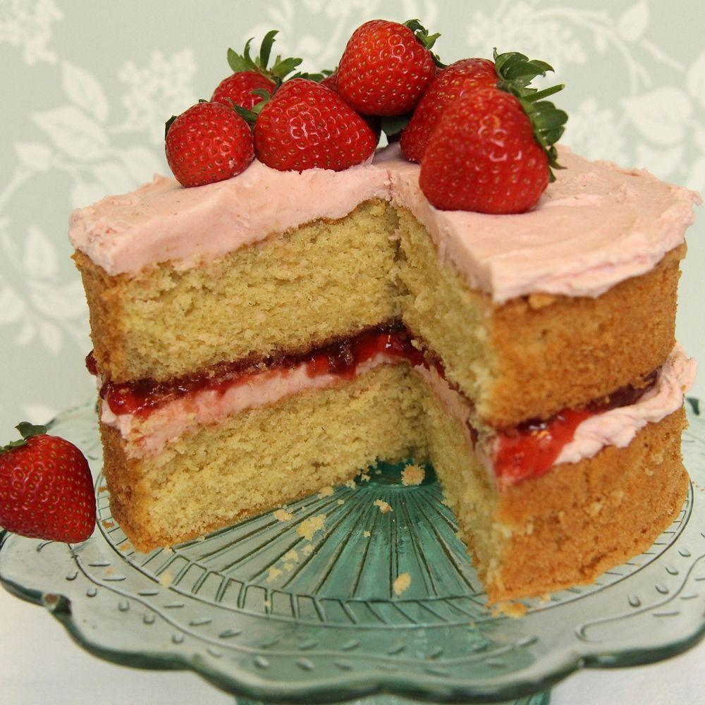 Victoria sponge Recipe Strawberry cake recipes Strawberry cakes