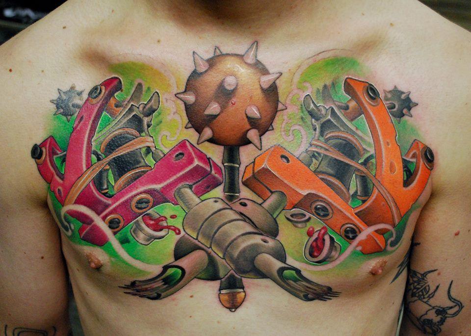 New school tattoo art by jamie ris