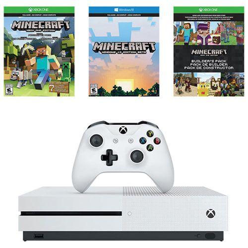Xbox One S 500GB Minecraft Bundle : Xbox One Consoles - Best