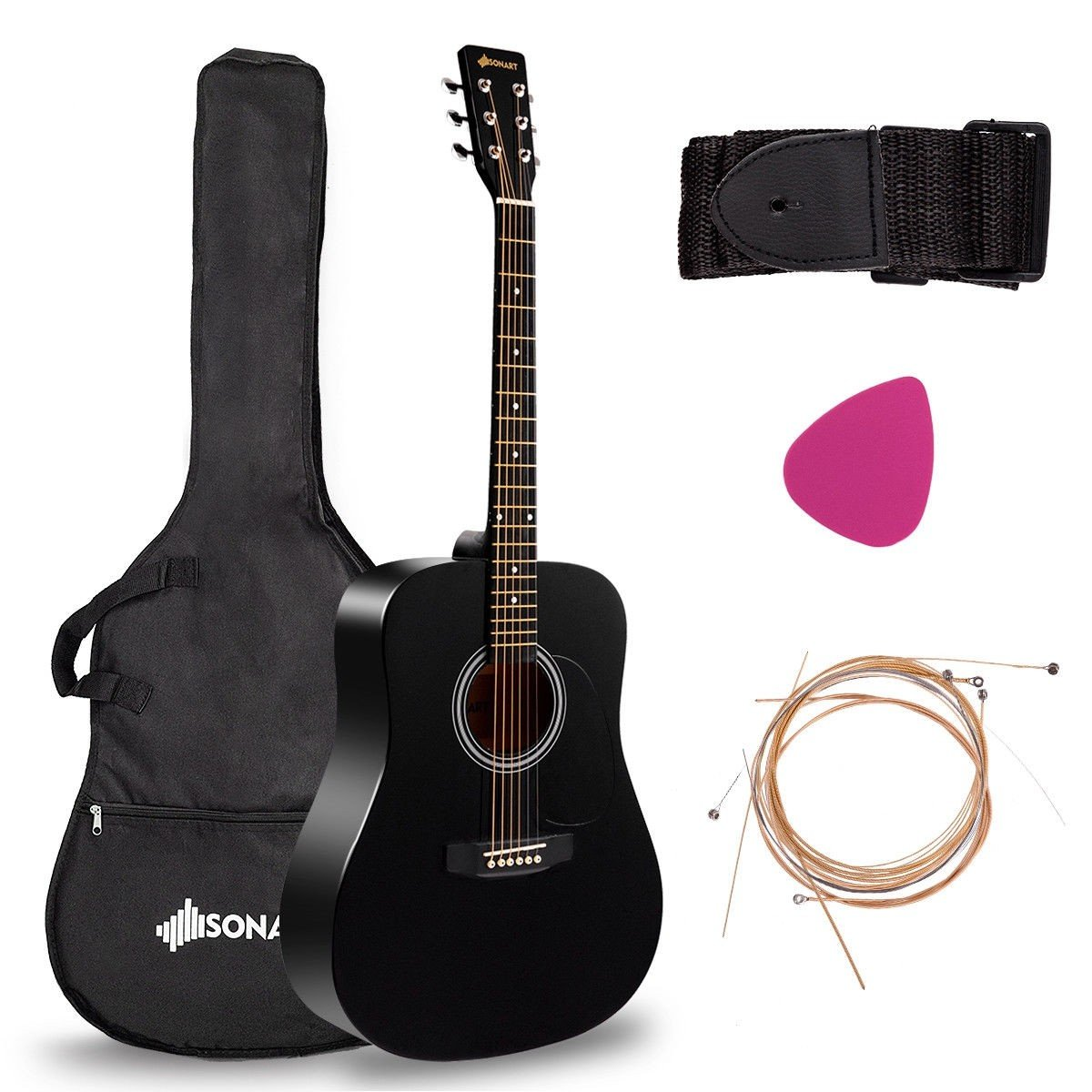 Sonart 41 6 Strings Acoustic Folk Guitar In 2020 Acoustic Guitar Guitar Acoustic