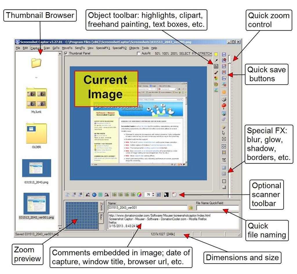 Screenshot Captor Download For Windows Class Tools Software Freeware