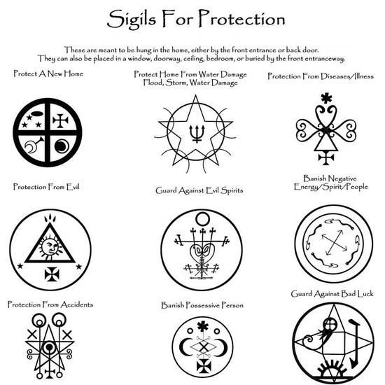 Sigils for protection of the home  You can print these or you can