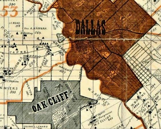 Buy Old Dallas Texas Map Vintage Historical Map Antique: Big Map Blog: Sam Street's Map Of Dallas County, Which