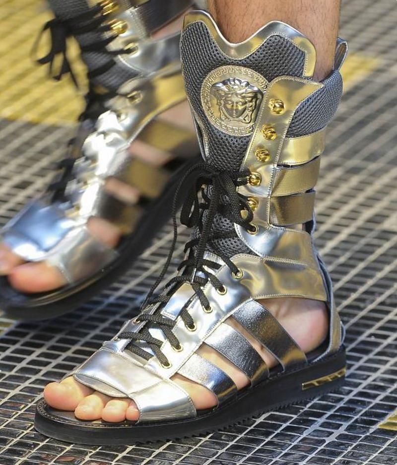 2a84bf7a6 Fashion   Lifestyle  Versace Gladiator Sandals Spring 2013 Menswear ...