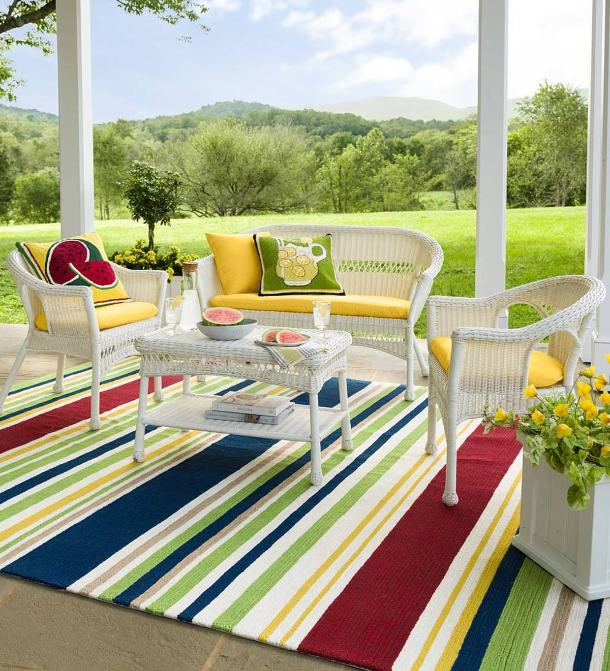 For Porch Deck Or Patio Our Easy Care Wicker Furniture