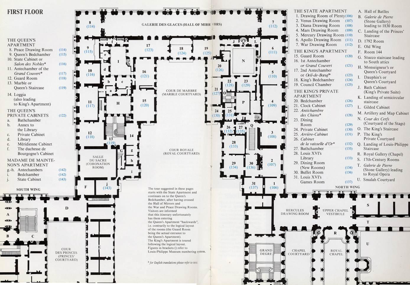 Palace Of Versailles Floor Plan Plan Of Palace Of Versailles Piano Nobile How To Plan Castle Floor Plan Floor Plans