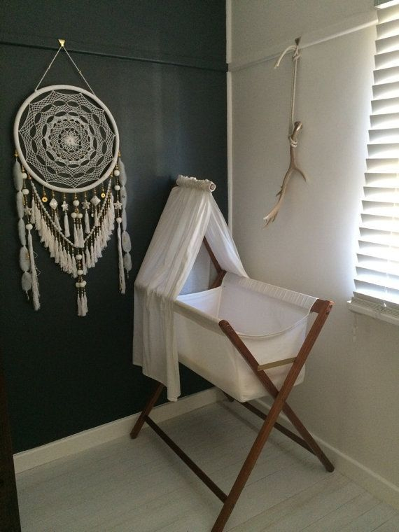Large White And Gold Beads Jewels Dreamcatcher By Goldendreamers Rhpinterest: Large Dream Catcher For Bedroom At Home Improvement Advice