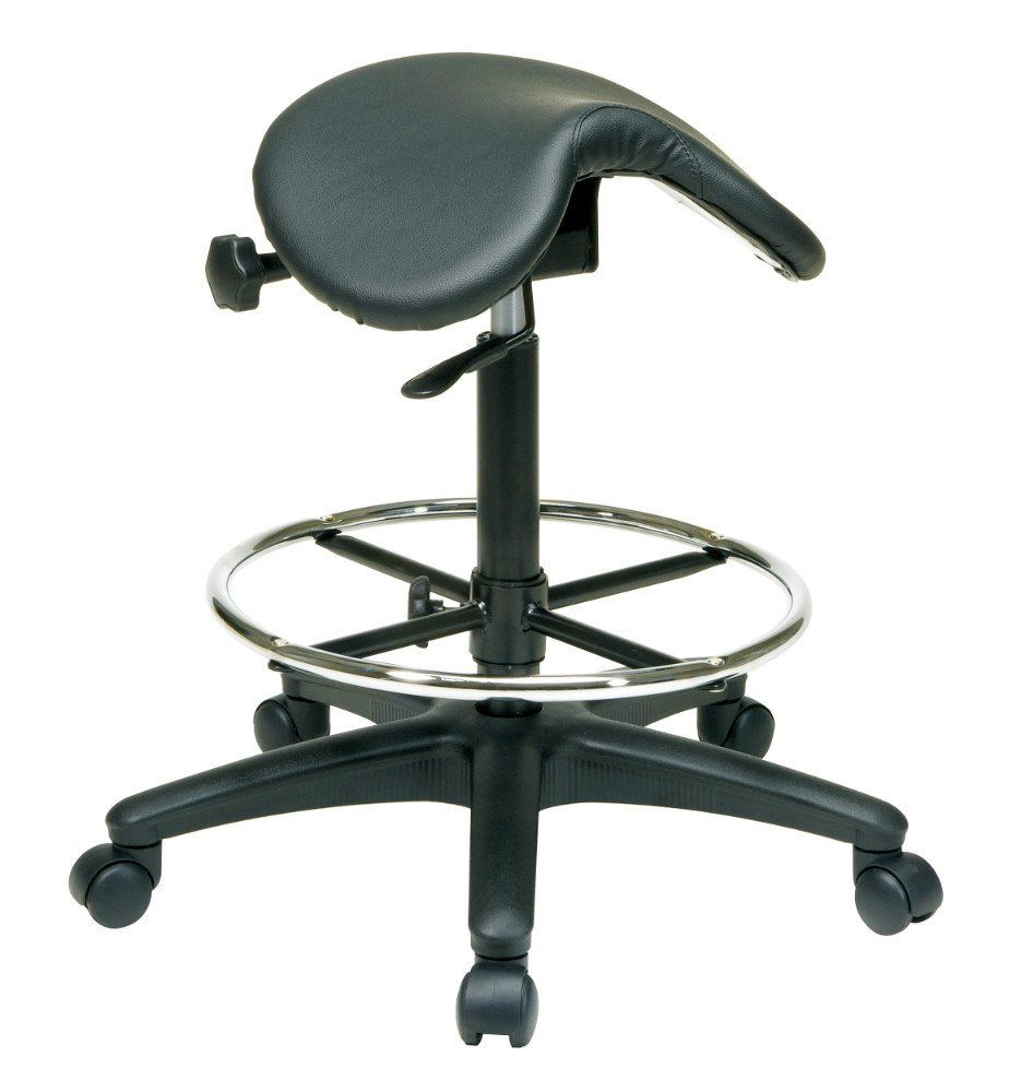 Backless ergonomic chair - The Backless Saddle Seat Is A Uniquely Ergonomic Heavy Duty Stool Featuring A Thick Padded