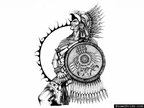 aztec eagle drawing images aztec designs pinterest
