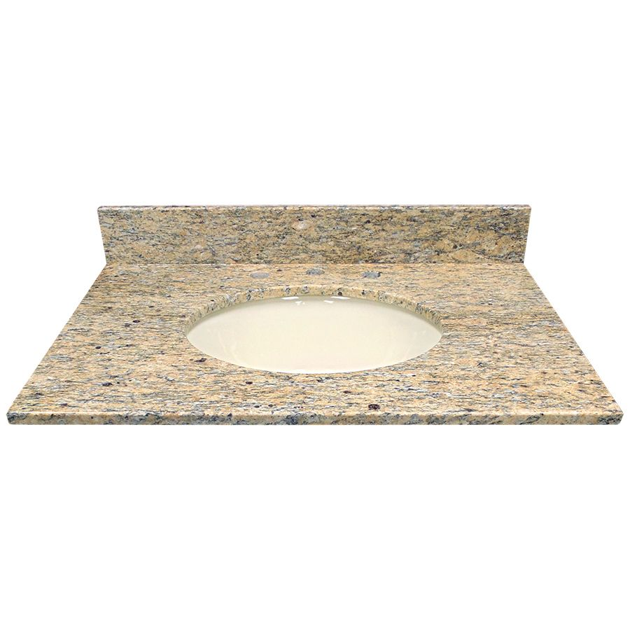 US Marble Santa Cecilia Granite Undermount Bathroom Vanity Top (Common:  31-in x