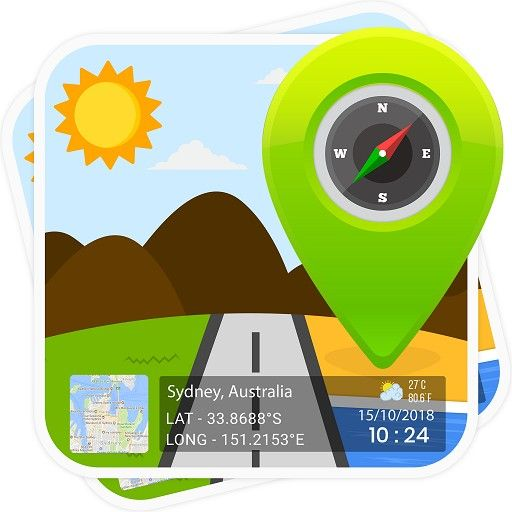 Popular App GPS Map Stamp Add a Geotag on Gallery