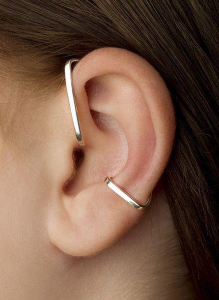 Jewels: staple ear cuff, ear wrap, staple ear wrap, staple, ear cuff, earrings, …