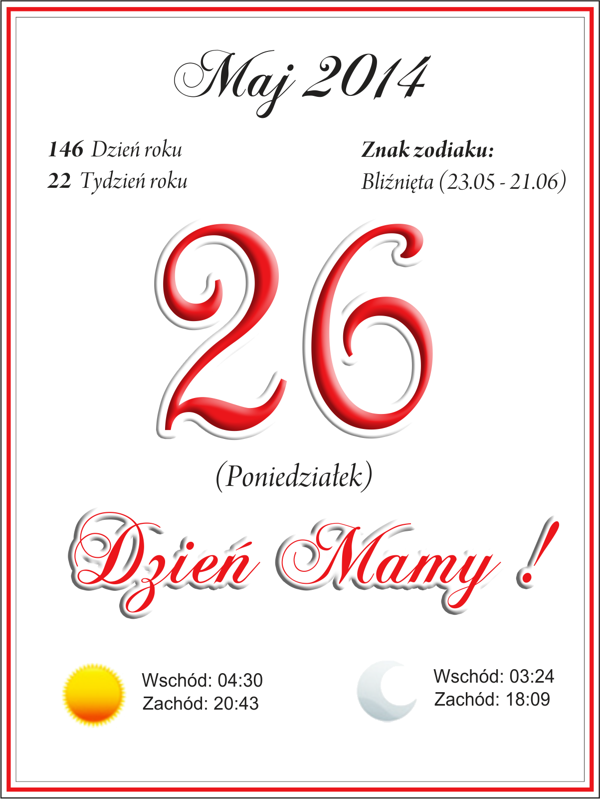 57 Kartka Z Kalendarza Na Dzien Mamy Digi Stamps Card Templates Stamp