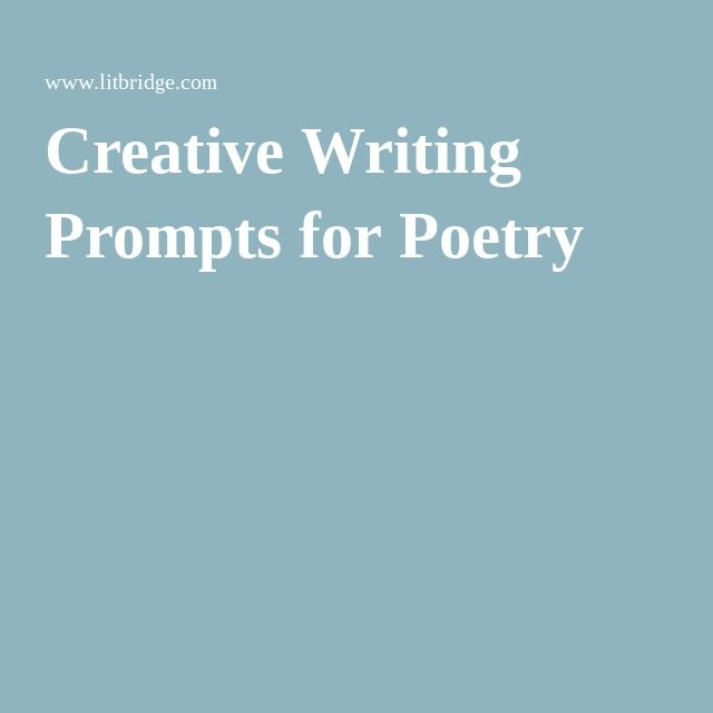 Creative Writing Prompts for Poetry