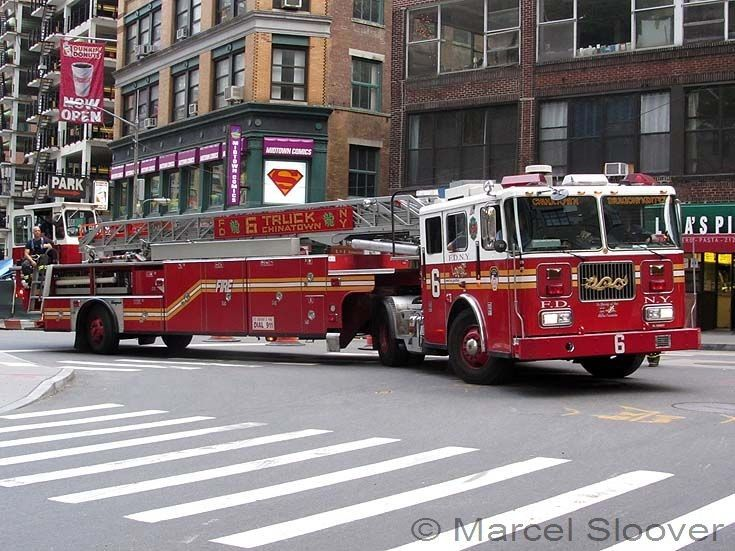 Ladder 6 Tiller truck China Town FDNY - I have their T-shirt ...