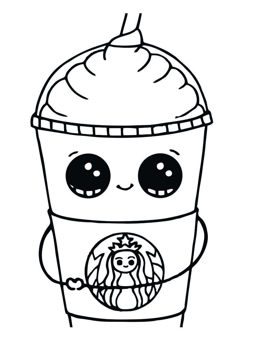 Starbucks Coloring Pages To Print Cool Coloring Pages Mermaid Coloring Pages Cute Coloring Pages