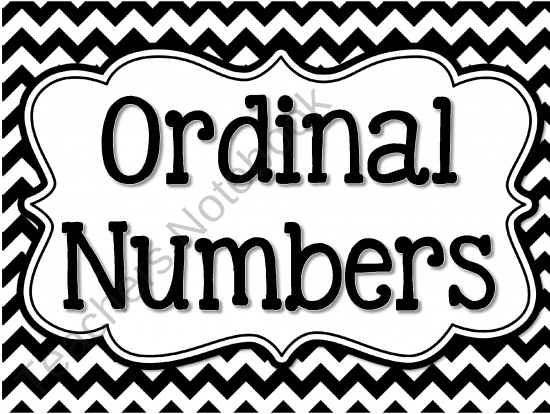 Ordinal Numbers - FREE from The Learning Effect on TeachersNotebook ...
