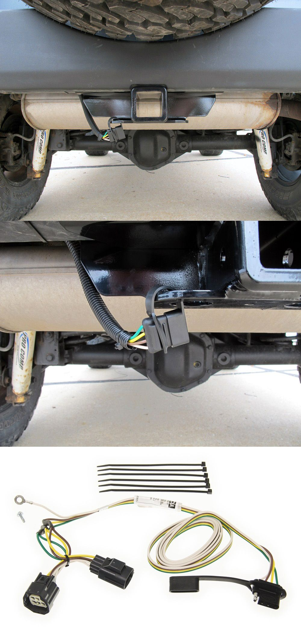 Curt T Connector Vehicle Wiring Harness With 4 Pole Flat Trailer Pro Comp Quickly And Easily Install A Way On Your Jeep Wrangler This Custom Plus Directly Into Existing No Cutting