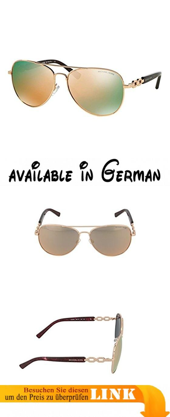 Michael Kors Damen Sonnenbrille Fiji MK1003, Gr. Large (Herstellergröße: 58), Gold (roségold-roségold verspiegelt 1003R5)