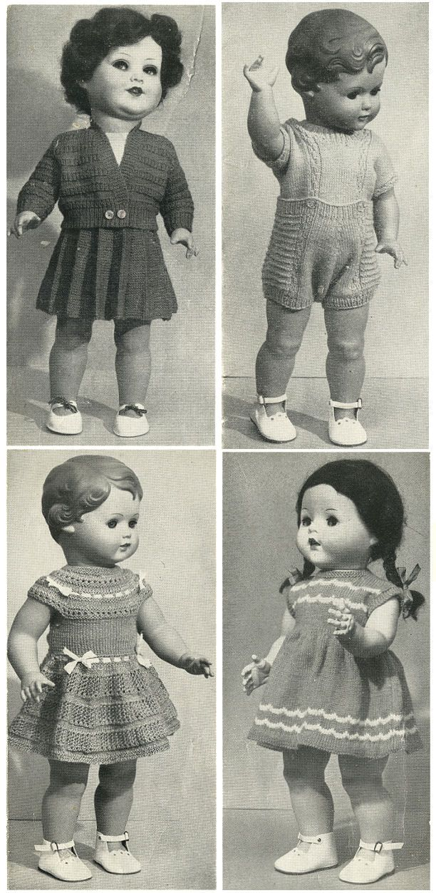 vintage retro toys dolls clothing knitted dresses fifties nifty ...