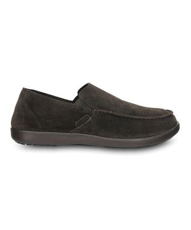 3f20c9e4f Take a look at this Espresso Santa Cruz Suede II Loafer - Men by Crocs on  #zulily today!