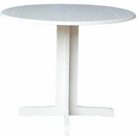 Dual Drop Leaf Table, 36 Inch, Black