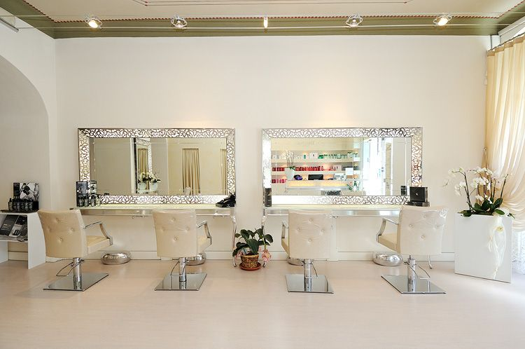 Hair Studio Marchini | Sarzana - Italy | Can't go wrong with glass, chrome and white! Get this this look http://stand.sh/blowdrybar