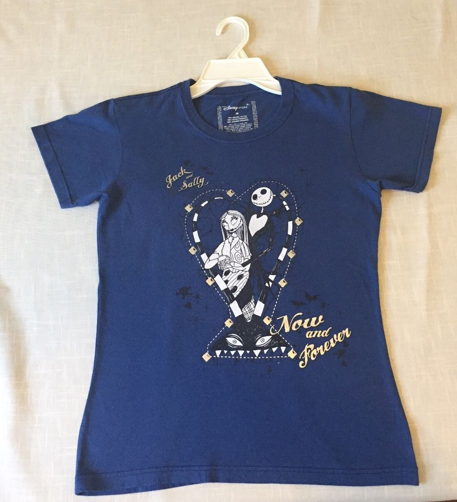 Disney's The Nightmare Before Christmas Jack And Sally Shirt Size Medium  | eBay