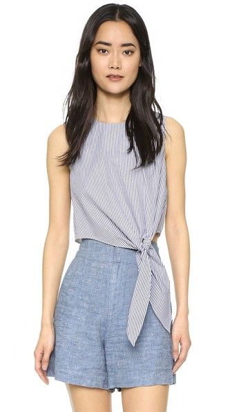 Club Monaco Tillard Tie Front Top