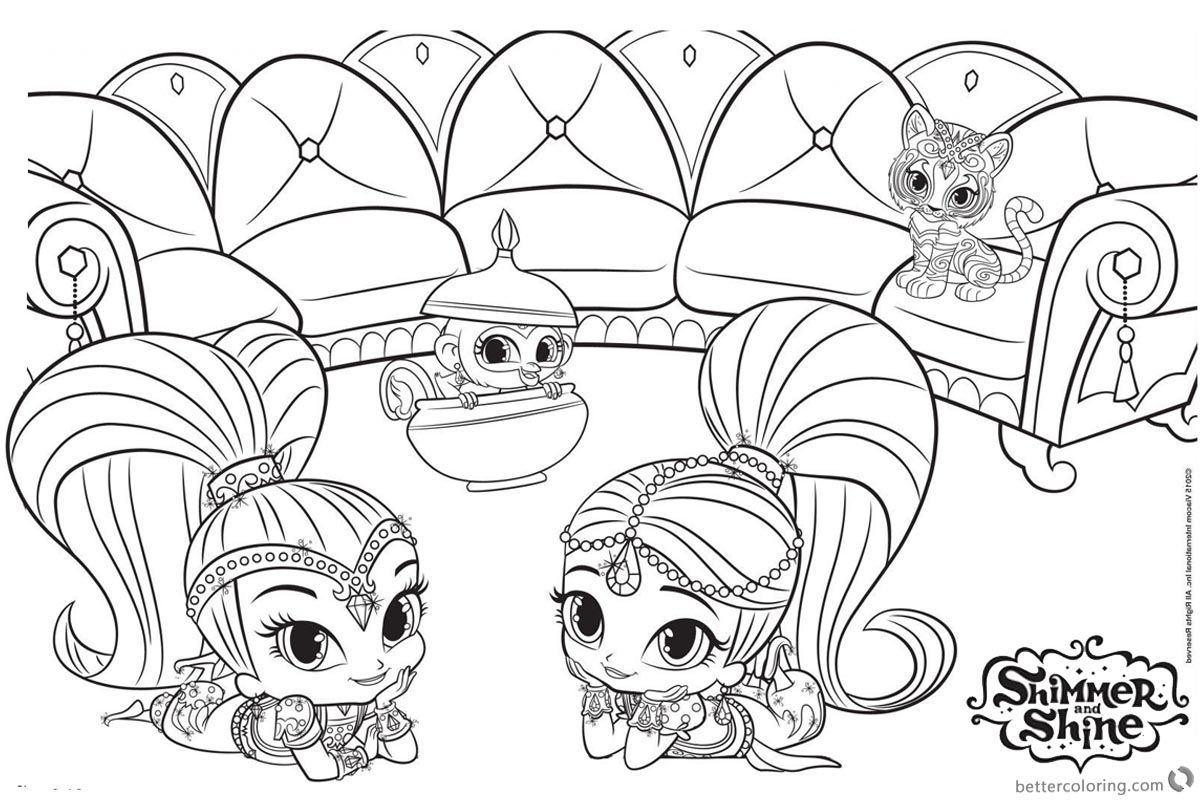 - Shimmer And Shine Coloring Pages Mermaid Coloring Pages, Cartoon