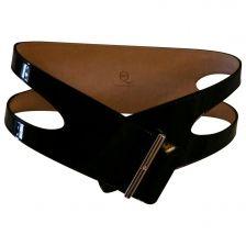 ALEXANDER MCQUEEN Black Patent leather Belt