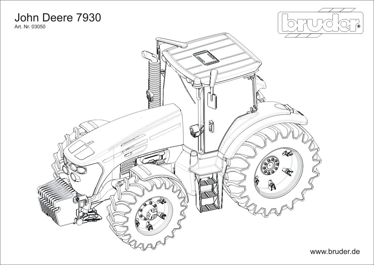 Top 100 Traktor John Deere Kolorowanka