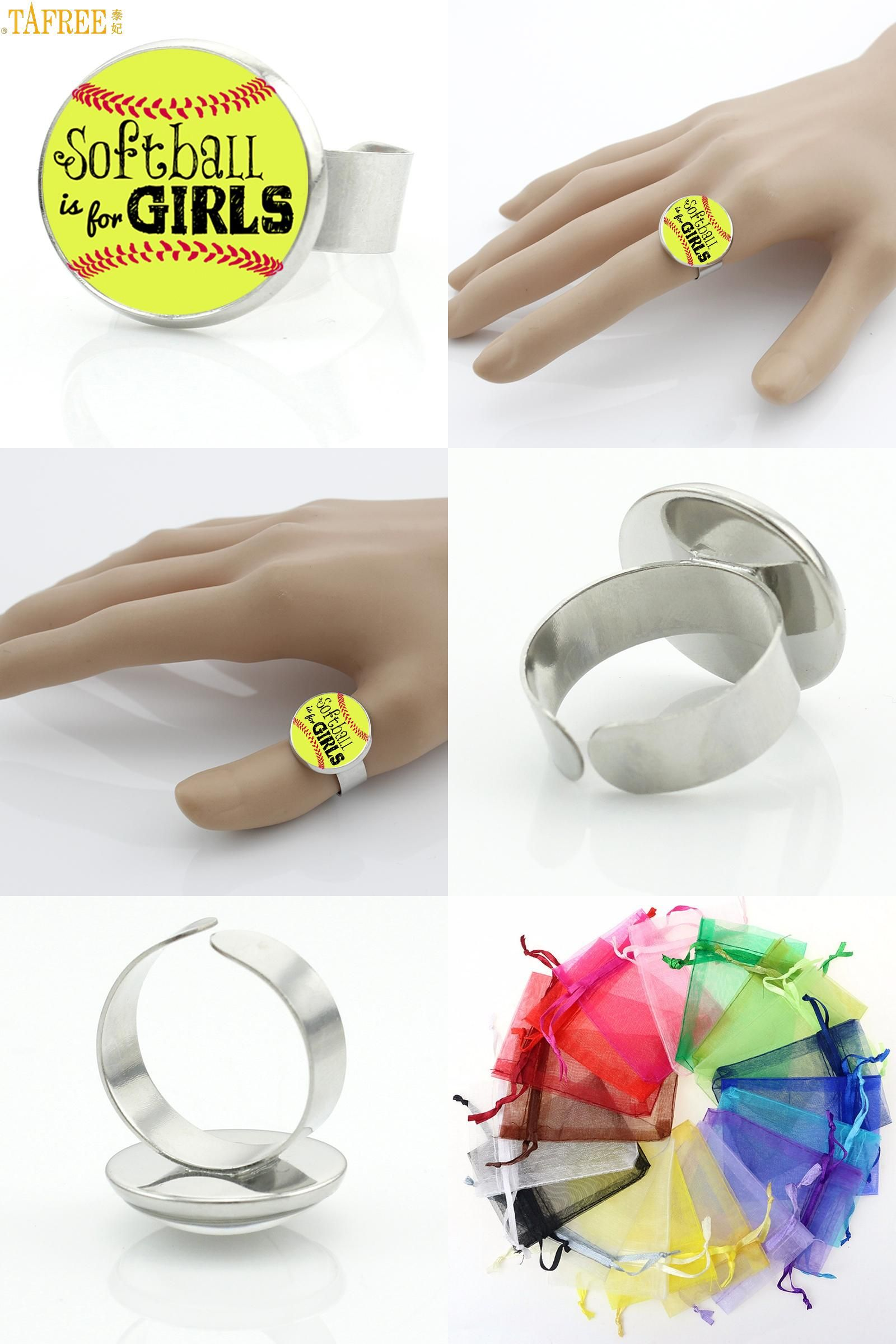 Visit to buy tafree softball is for girls rings trendy colorful