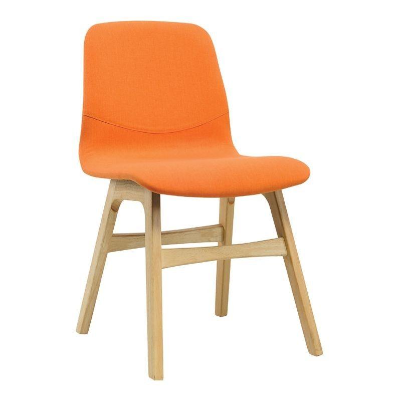 Circular Tribal Mask Cushion Orange Dining Chairs Fabric Dining Chairs Dining Chairs