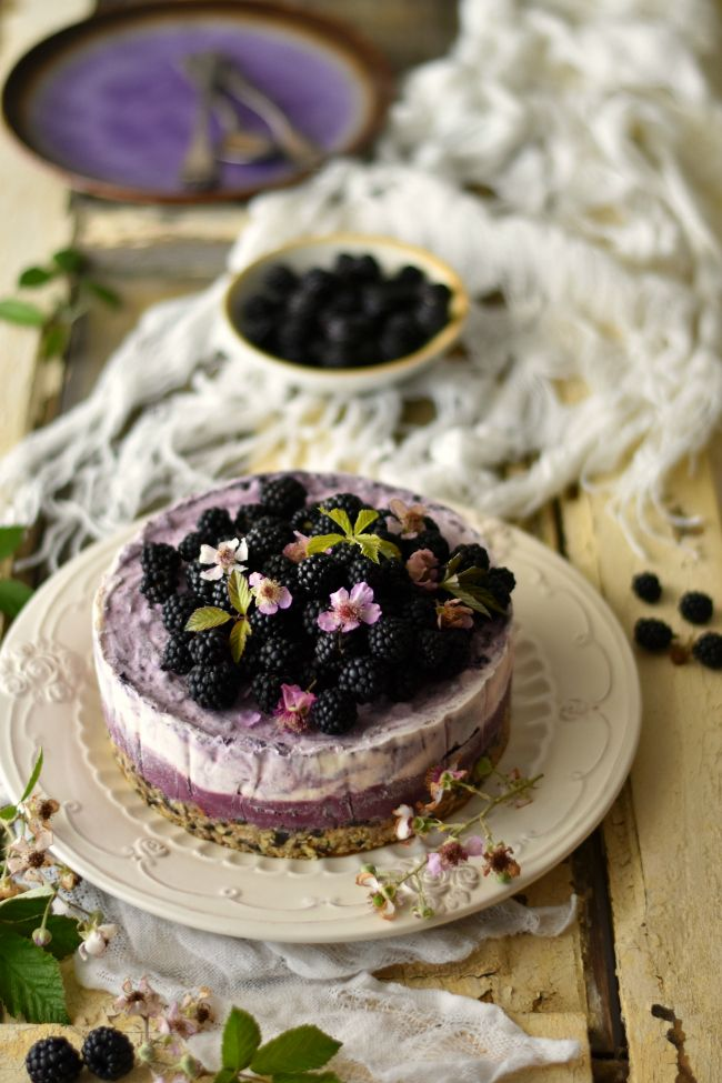 Wild Blackberry Ice Cream Cake