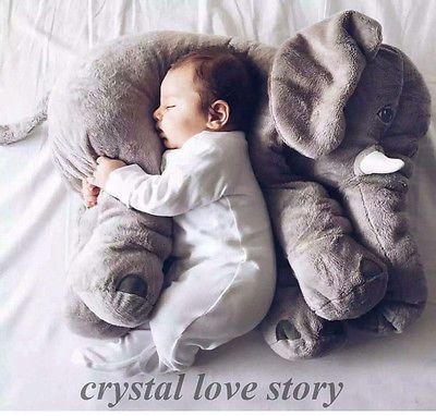 Long Nose Elephant Doll Baby Sleeping Warm Lumbar Pillow Soft Plush Cushion Toys