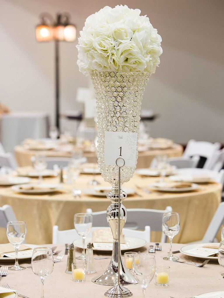 13 Glamorous Centerpieces With Serious Bling | Wedding centerpieces ...