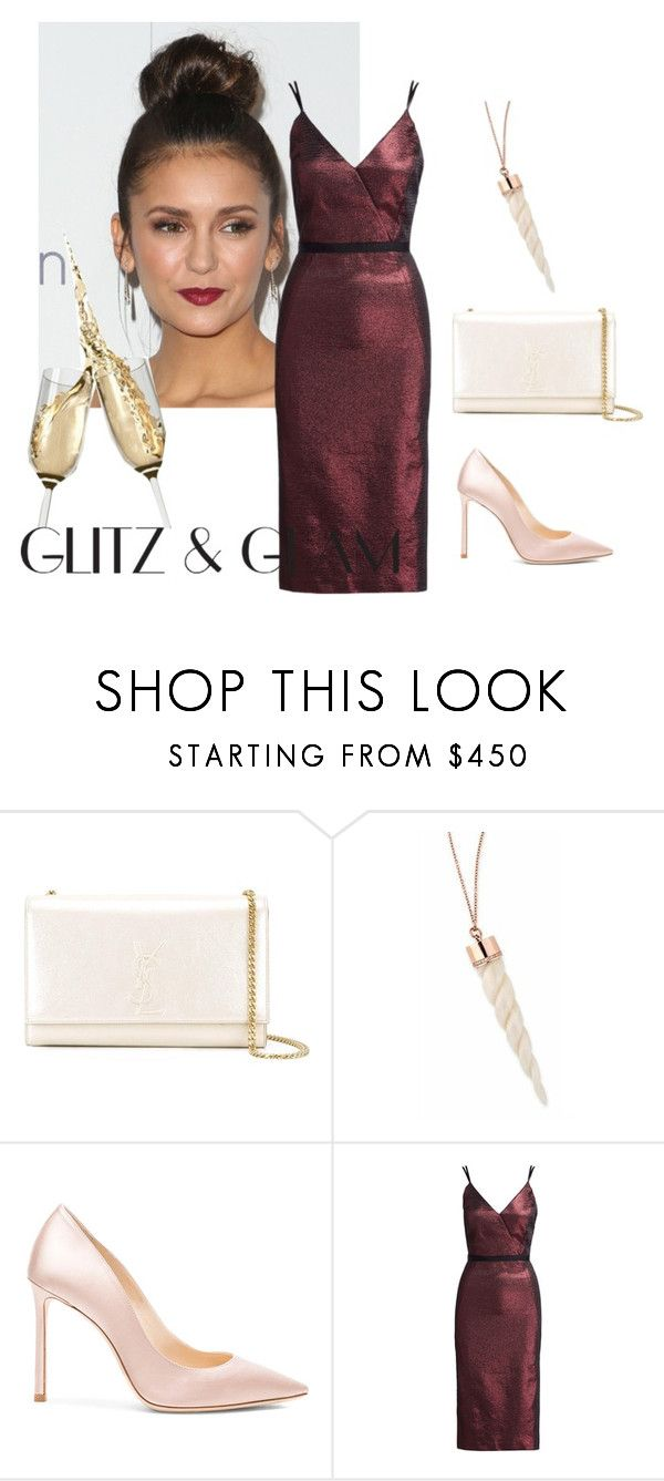 """""""Glitz & Glam"""" by amanda-368 ❤ liked on Polyvore featuring Yves Saint Laurent, Jimmy Choo and Cinq à Sept"""