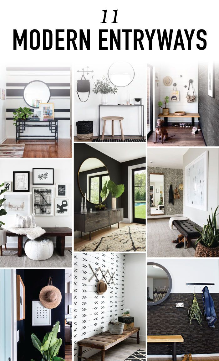11 Modern Entryway Decor Ideas to Copy in Your Own Home | Modern ...