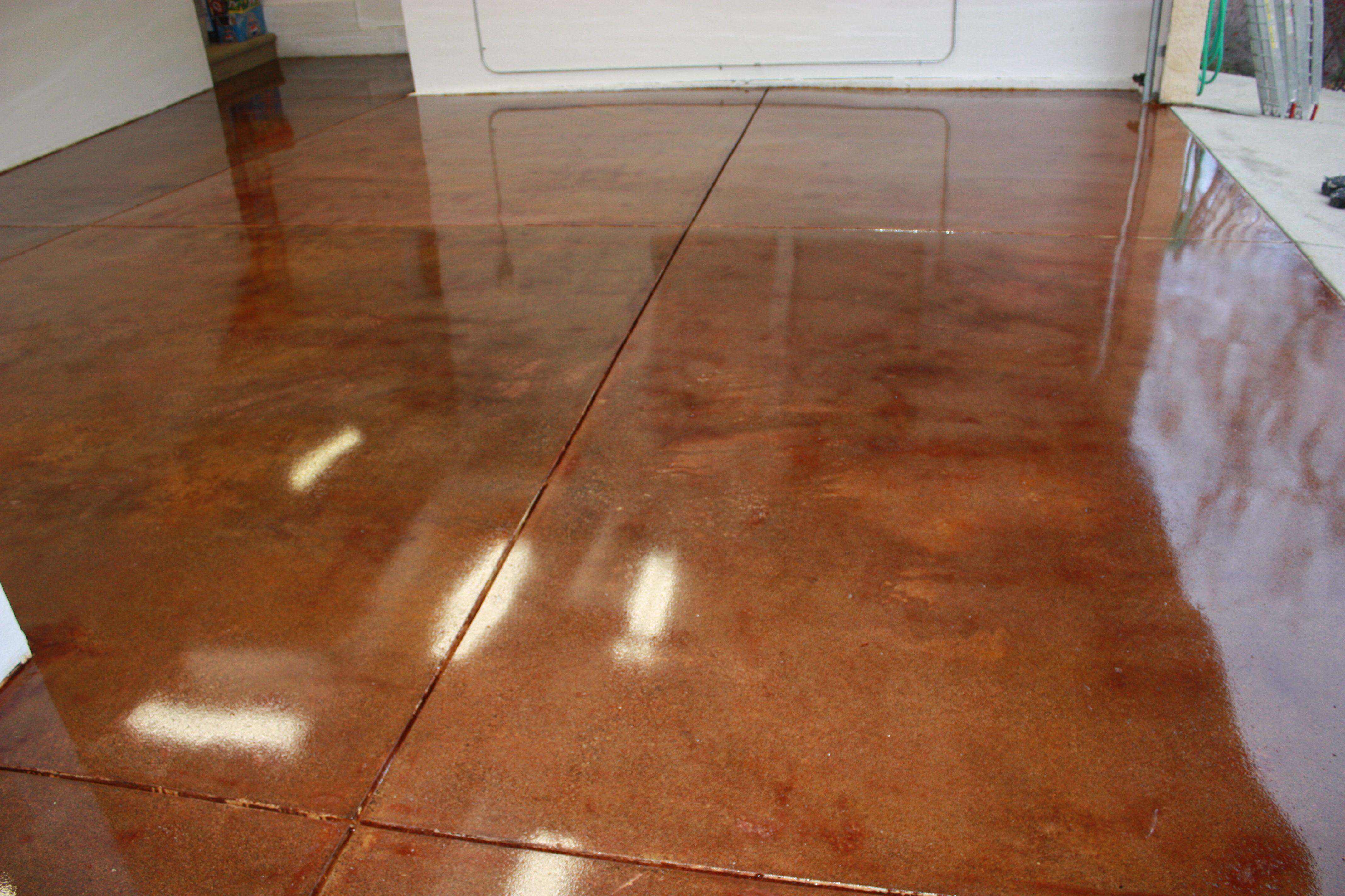 Colored Concrete Floor So Warm Looking Concrete Floors